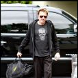 Johnny Hallyday se rend dans son club de gym à Los Angeles le 18 avril 2011