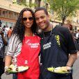Garcelle Beauvais participe au Mission Easter for the Homeless, afin de servir des repas chauds aux sans-abri, vendredi 22 avril à Los Angeles.