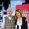 Clémentine Célarié et son papa sur le plateau de Vivement Dimanche