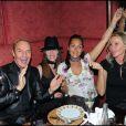 Tony Gomez, Florence Belkacem, Hermine de Clermont Tonnerre et Florentine Leconte lors de la soirée d'inauguration de la nouvelle compilation du Buddha Bar à Paris le 28 avril 2011