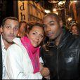 David Setrouk, Hermine de Clermont Tonnerre et Lord Kossity lors de la soirée d'inauguration de la nouvelle compilation du Buddha Bar à Paris le 28 avril 2011
