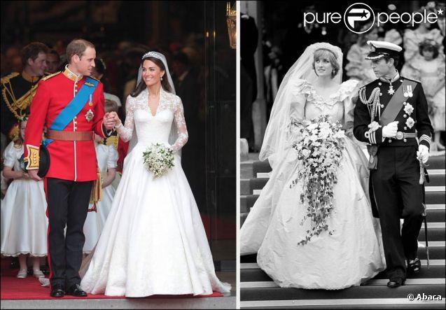Kate et Diana face à face Deux mariages, deux baisers, deux maris, deux destins