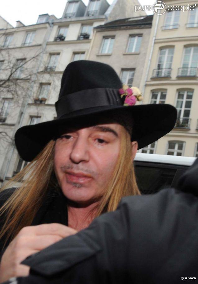 John Galliano, à Paris, le 28 février 2011