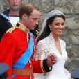 Kate Middleton est radieuse au bras de son prince charmant. Londres, 29 avril 2011