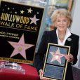 Jane Morgan honorée par une étoile sur le Walk of Fame à Hollywood, le 6 mai 2011