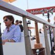 Nicolas Godin du groupe Air sur la plage du Majestic 64 lors du festival de Cannes le 12 mai 2011