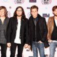 Kings of Leon pose lors des MTV Europe Music Awards à Madrid en novembre 2010