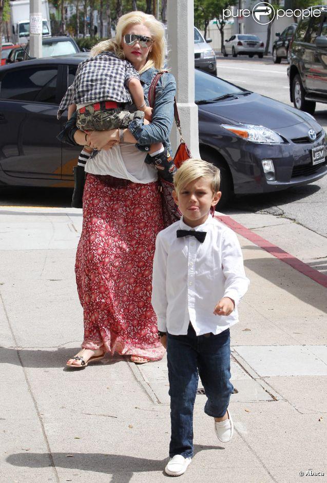 Gwen stefani avec les 3 hommes de sa vie ses fils super for Le elle apartments west hollywood