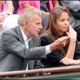 Patrick Poivre d'Arvor et Anouchka Delon, à Roland-Garros, Paris, le 31 mai 2011.