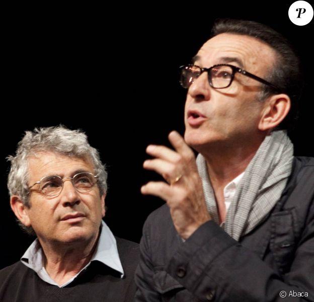 Michel Boujenah et Robin Renucci à la conférence de presse du festival de Ramatuelle, le 7 juin 2011.