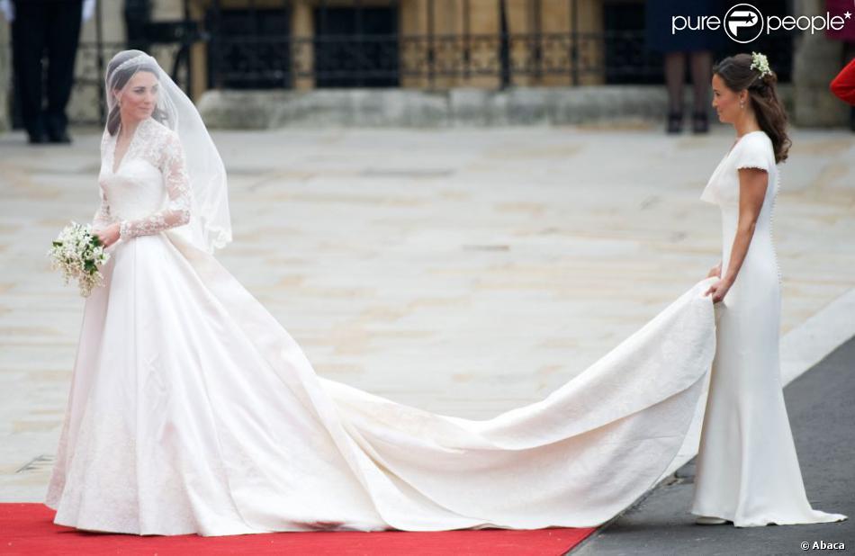 Pippa Middleton était la demoiselle d\u0027honneur de Kate à son mariage avec le prince  William. Londres, 29 avril 2011