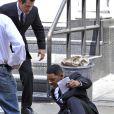 Will Smith sur le tournage de Men in Black 3, il donne de sa personne en effectuant les cascades le 7 juin, à New York !