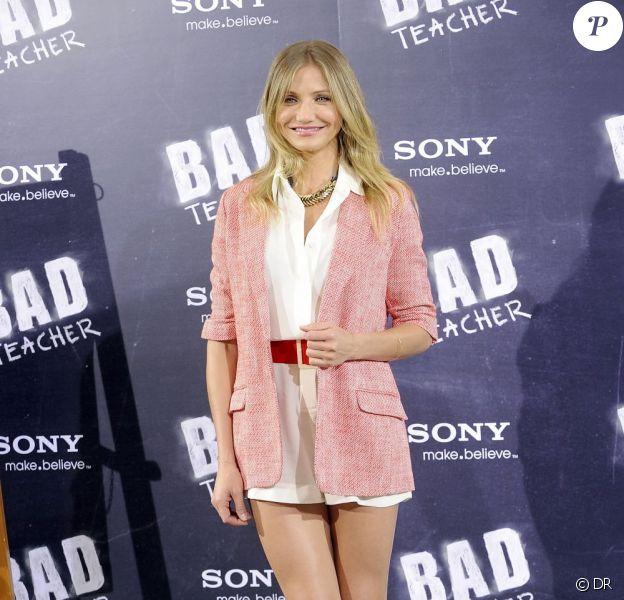Cameron Diaz lors de la présentation espagnole de Bad Teacher, à Madrid, le 13 juin 2011.