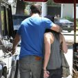 Brian Austin Green et sa femme Megan Fox à Los Angeles le 28 mai 2011 après s'être rassasiés au Pain Quotidien