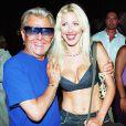 Michou et Loana, à Saint-Tropez, le 7 août 2001.