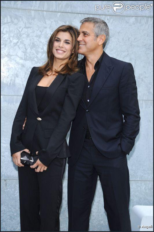 George Clooney et Elisabetta Canalis en septembre 2010 à Milan