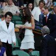 Le prince William et son épouse Catherine (Kate Middleton) étaient présents à Wimbledon le 27 juin 2011 pour encourager sur le court central l'Ecossais Andy Murray, opposé à Richard Gasquet.