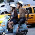 Sacha Baron Cohen et la délirante Anna Faris lors du tournage de  The Dictator , à Manhattan, le 27 juin 2011.