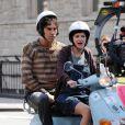 Sacha Baron Cohen et la ravissante Anna Faris lors du tournage de  The Dictator , à Manhattan, le 27 juin 2011.