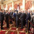 Renaud Capuçon reçoit la Legion d'Honneur en compagnie de son épouse Laurence Ferrari à l'Elysée le 15 juin 2011 à Paris