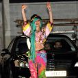 Lady Gaga à la sortie des studios de Taratata, à Paris, le 13 juin 2011.