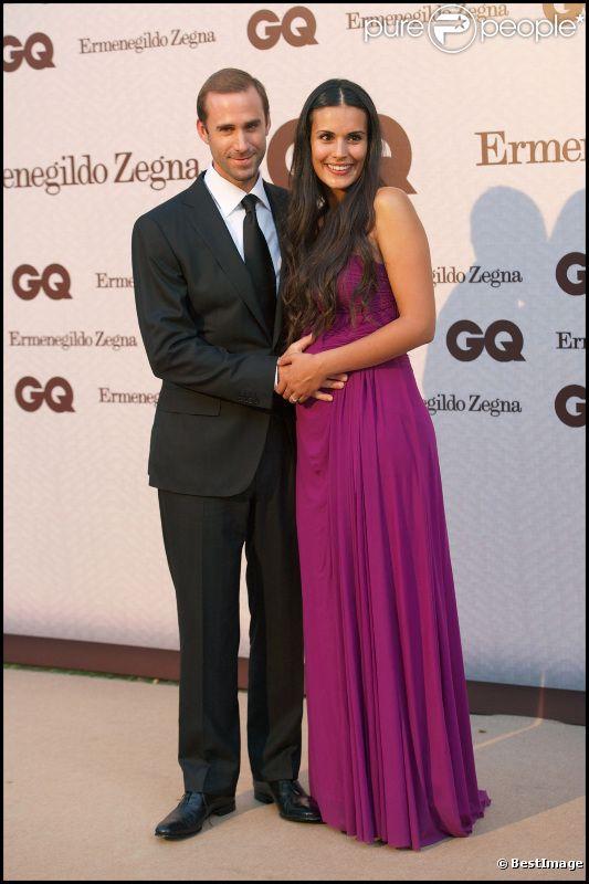 Joseph Fiennes et son épouse Maria Dolores Dieguez lors de la soirée GQ à Madrid le 29 juin 2011