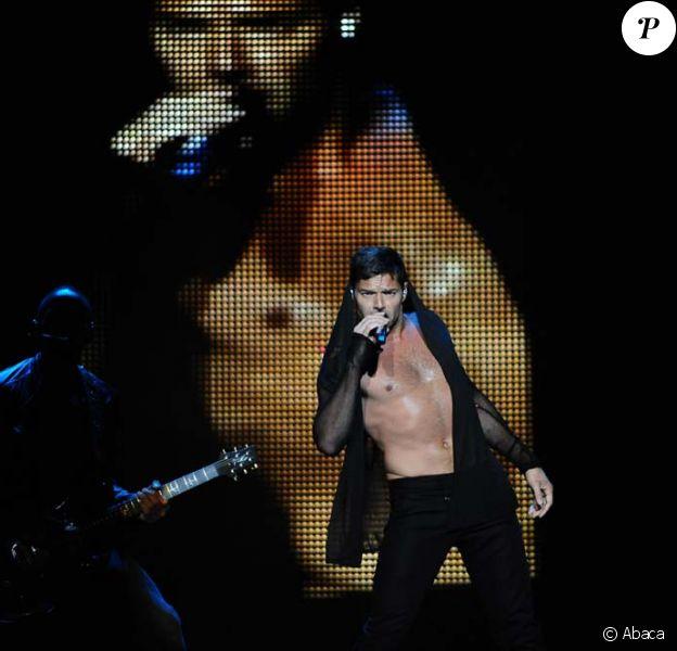 Ricky Martin en concert à Rome, le 2 juillet 2011.