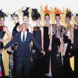Giorgio Armani présente sa collection Haute Couture automne-hiver 2011-2012 au style japonisant lors de la Fashion Week parisienne, le 5 juillet 2011