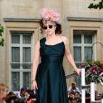 Helena Bonham Carter lors de l'avant-première mondiale de Harry Potter et les Reliques de la mort - partie II à Londres le 7 juillet 2011