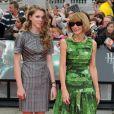 Anna Wintour et sa fille lors de l'avant-première mondiale de Harry Potter et les Reliques de la mort - partie II à Londres le 7 juillet 2011