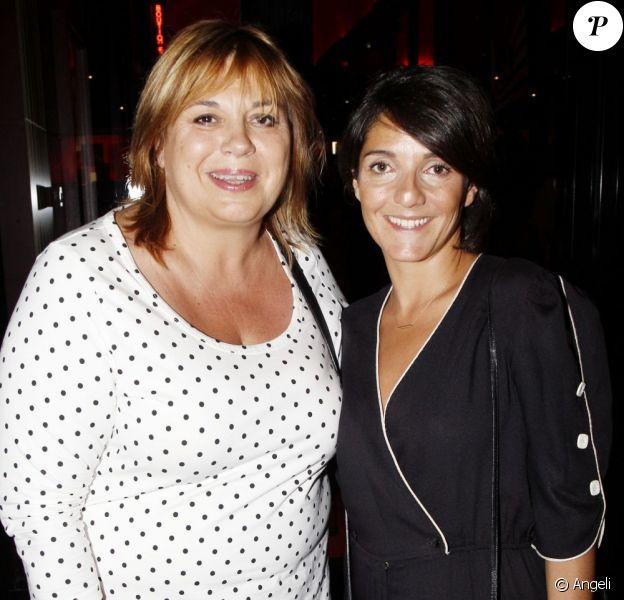 Michèle Mercier et Florence Foresti au concert unique de Liza Minnelli, à l'Olympia, à Paris, le 11 juillet 2011.