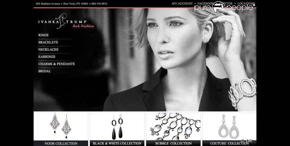 nouveau concept 3932d bf0bc Site internet de la ligne de bijoux d'Ivanka Trump - Purepeople