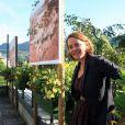 La présentatrice télé Cendrine Dominguez pour la première édition du Festival de photo de Mont-Blanc à Saint-Gervais le 15 juillet 2011