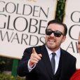 Ricky Gervais et Jane Fallon lors des Golden Globes en janvier 2011