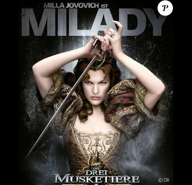 Affiche du film Les Trois Mousquetaires version 3D de Paul W. S. Anderson avec Milady