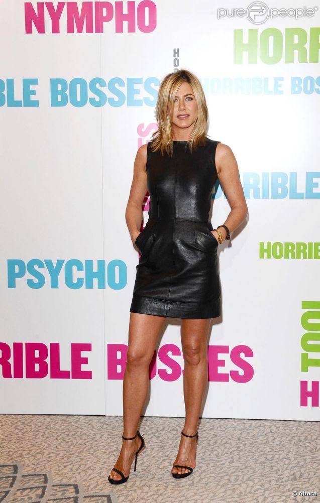 Jennifer Aniston lors du photocall de Comment tuer son boss ? à Londres le 20 juillet 2011