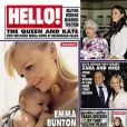 Emma Bunton pose avec son fils Tate en couverture du magazine anglais Hello.