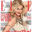 L'actrice Drew Barrymore en couverture de l'édition polonaise du magazine  Elle  de janvier 2011.