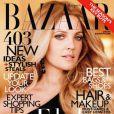 L'actrice Drew Barrymore en couverture du magazine  Harper's Bazaar  d'octobre 2010.