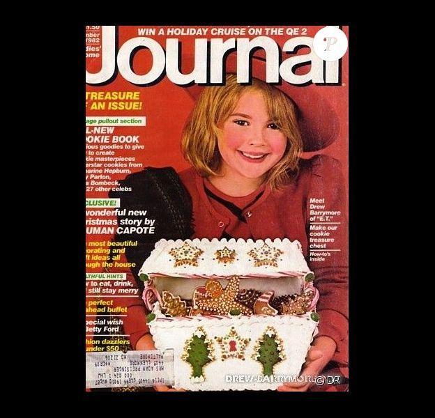 Drew Barrymore à 7 ans, en couverture du magazine Ladies' Home Journal. Décembre 1982.