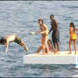 Andy Garcia saute à l'eau, et Don Cheadle rit déjà - mai 2007 au Cap d'Antibes