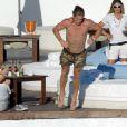 Sergio Ramos saute à l'eau, à la grenouille - juillet 2008 à Marbella