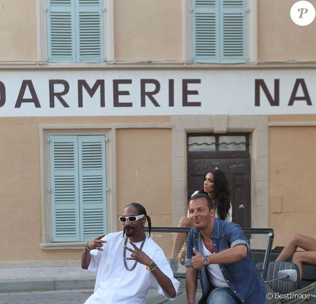Snoop Dogg et Jean-Roch tourne lur nouveau clip, à Saint-Tropez le 3 août 2011