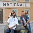 Jean-Roch et Snoop Dogg tournent à Saint-Tropez, sur la Place de Lices leur nouveau clip, le 3 août 2011