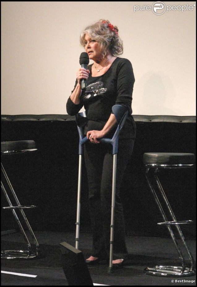 Brigitte Bardot à Paris, le 28 septembre 2006.