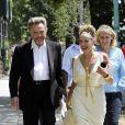 Christopher Walken et Sharon Stone, alias Zeus et Aphrodite, sur le tournage de Gods Behaving Badly à New York le 8 août 2011