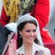 Kate Middleton le jour de son mariage avec le prince William, le 29 avril 2011, à Londres.