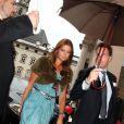La princesse Madeleine de Suède, 29 ans, et son nouvel amour Chris O'Neill, 36 ans, arrivent au dîner-concert spécial Mozart dans le cadre du Festival de Salzbourg, en Autriche, le 7 août 2011.