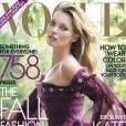 Kate Moss en couverture de Vogue US du mois de septembre