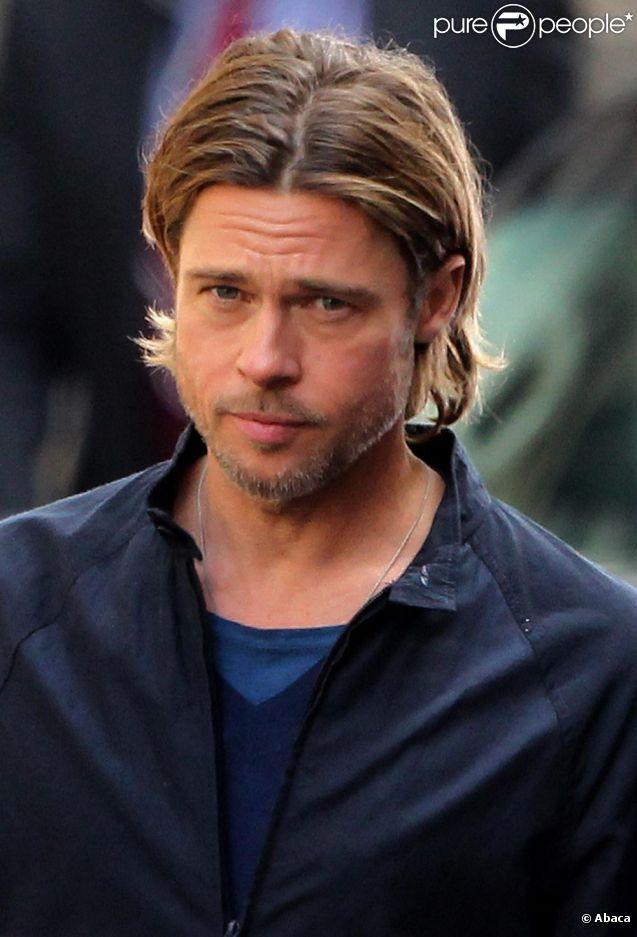 Brad Pitt sur le tournage de World War Z à Glasgow les 18 et 19 août 2011